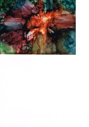 alcohol ink cruciform 3.13