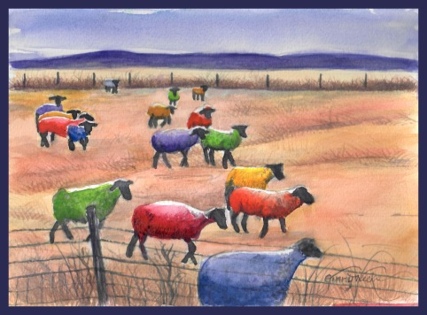 Colorful sheep lrps 3.9.16 w border