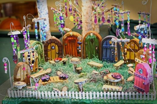 fairy doors w suncatchers and furniture