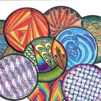 Colored pencil tangle