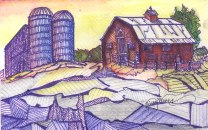 Silos and barn wire drawing