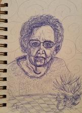 Older lady Sketch