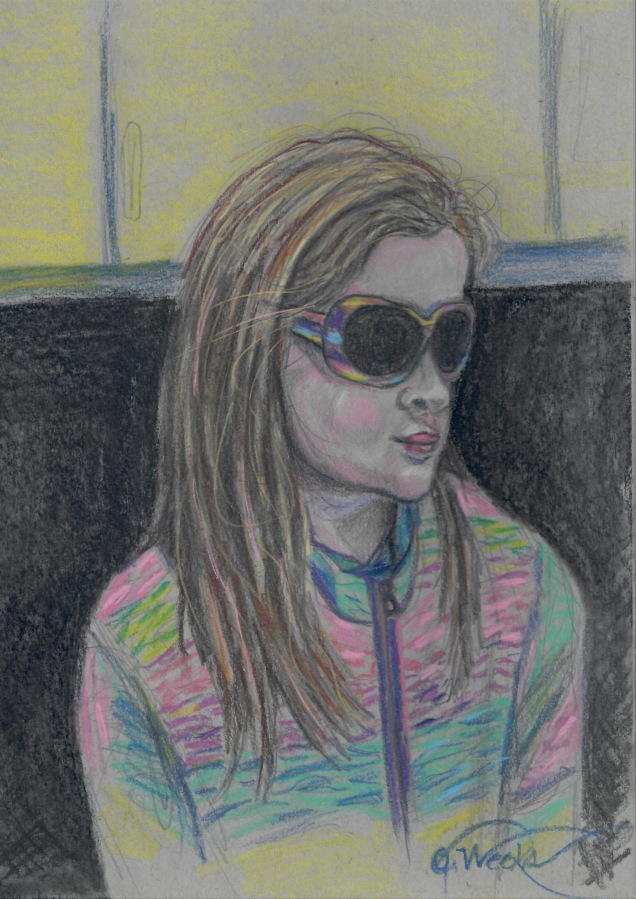 Pastel pencil portrait K