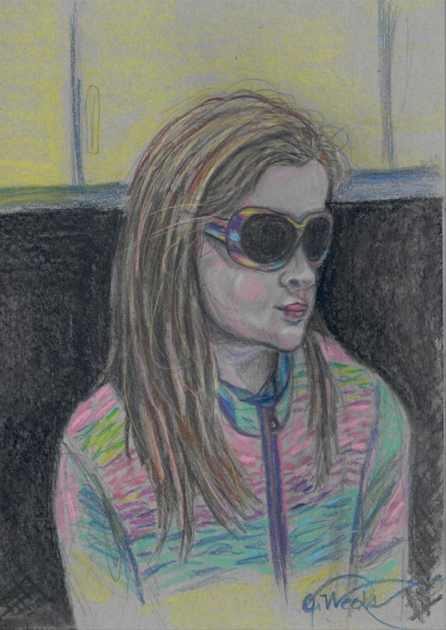 Pastel pencil portrait K